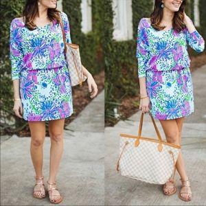 Lilly Pulitzer Cara Garden Floral Print Dress XS